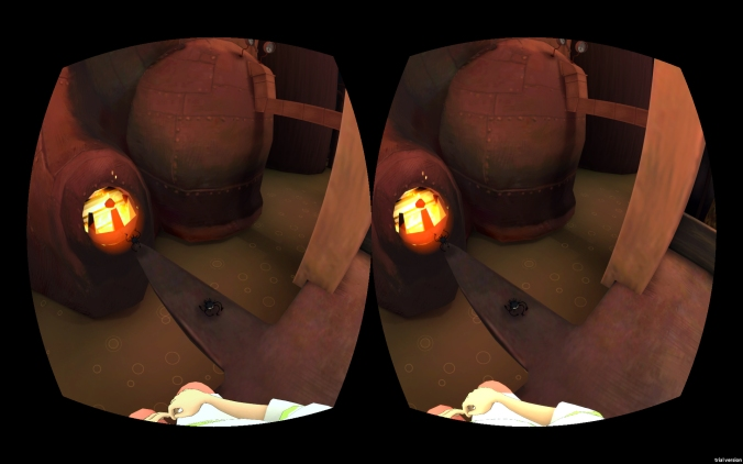 Spirited Away, BoilerRoom for VR - soot sprites at the furnace