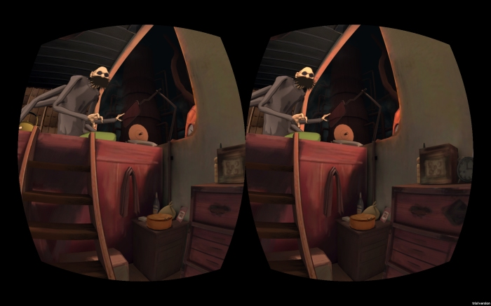 Spirited Away, BoilerRoom for VR - Kamaji overlooking the room